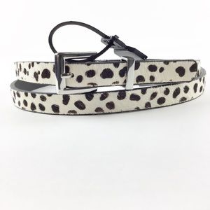The Limited Leather Cheetah Print Belt l Size M